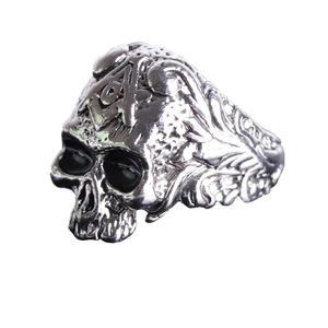 Deadhead Skull otenkopf Ring Biker Ring Gothic Silber für Herren und Biker RZ601 (67 (21.3))