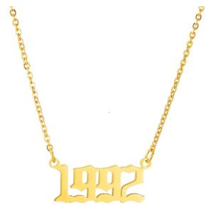 Damen Geburtsjahr Halskette gold 1992 aus Edelstahl ideales Geschenk