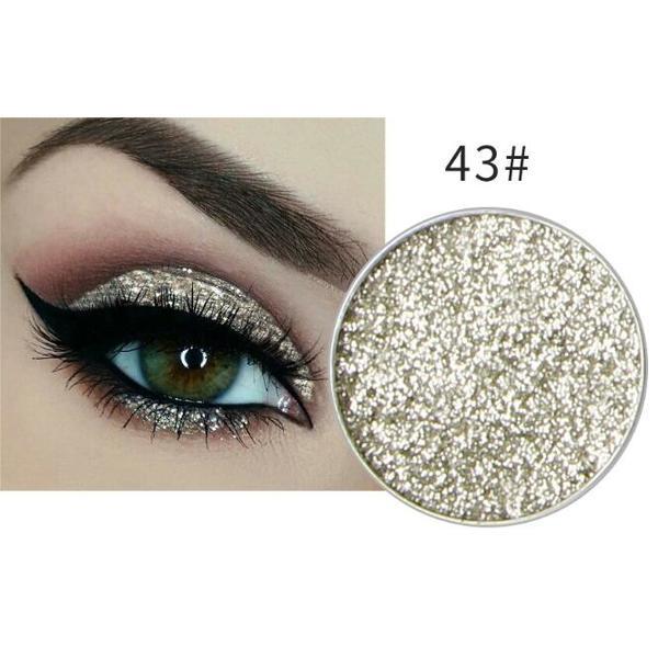 Silber Gold Glitzer Eyeshadow Glitzer Lidschatten Glitter Augen Make Up Nr. 43
