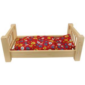 Puppenbett aus Holz groß