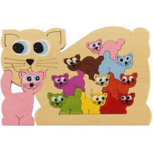 Holzpuzzle kleine Katzen