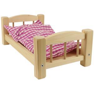 Puppenbett aus Holz klein