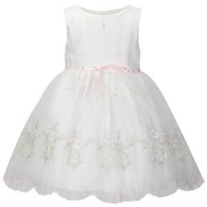Organza Kleid mit Stickerei