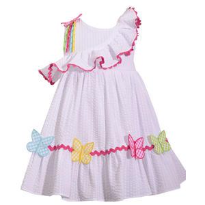 Schmetterling Seersucker Sommerkleid