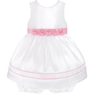 Baby Satin-Petticoatkleid inkl. Windelhöschen