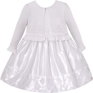 Organza Petticoatkleid inkl. Langarm-Bolero in weiß
