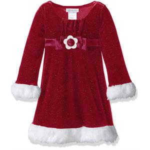 Mädchen Weihnachtskleid - Samtkleid in weinrot