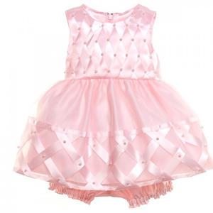 Organza Baby Mädchen Petticoat Kleid in zartem rosa