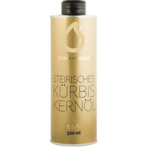 Steirisches Kürbiskernöl - Steirisches Gold, ungefiltert, traditionell, naturbelassenes 100% steirisches Kernöl g.g.A - 500ml