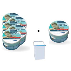 BWT Benamin Ultra Clear Aktionspaket Pflegemittel, 6 Stück im Eimer