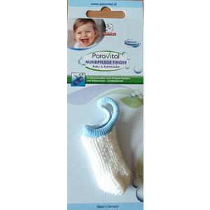 Fingerzahnbürste für Babies und Kleinkinder aus Mikrofaser Blau