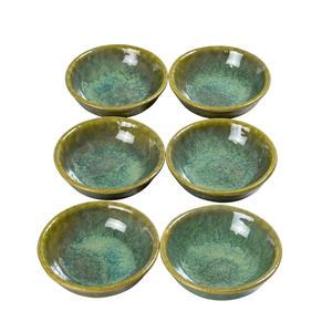 6 x Saucenschälchen Enra handgefertigt aus Edelkeramik (Seegrün)