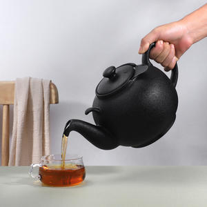 Urban Lifestyle Teekanne/Teapot Liverpool Klassisch Englische Form aus Keramik 2 L (Black Lava, ohne Filter)