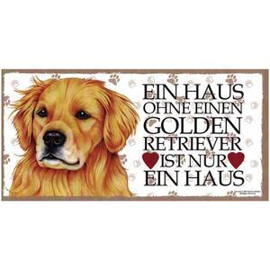 """Tierschild aus Holz, Motiv """"Golden Retriever"""""""