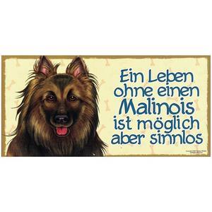 "Tierschild aus Holz, Motiv ""Malinois"""