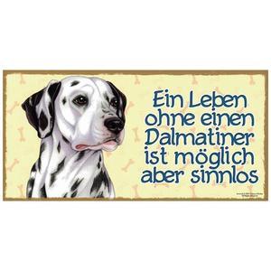 """Tierschild aus Holz, Motiv """"Dalmatiner"""""""