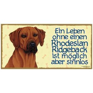 "Tierschild aus Holz, Motiv ""Rhodesian Ridgeback"""