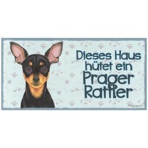 """Tierschild aus Holz, Motiv """"Prager Rattler"""""""