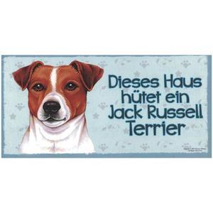 "Tierschild aus Holz, Motiv ""Jack Russel Terrier"""