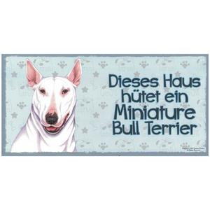 """Tierschild aus Holz, Motiv """"Miniature Bull Terrier"""""""