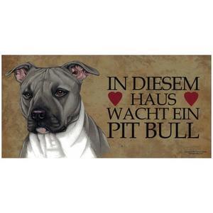 "Tierschild aus Holz, Motiv ""Pit Bull"""