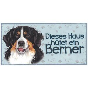 """Tierschild aus Holz, Motiv """"Berner"""""""