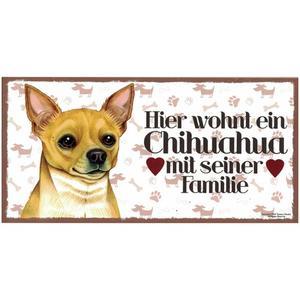 "Tierschild aus Holz, Motiv ""Chihuahua"""