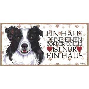 """Tierschild aus Holz, Motiv """"Border Collie"""""""