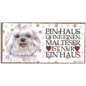 """Tierschild aus Holz, Motiv """"Malteser"""""""
