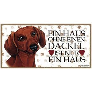 """Tierschild aus Holz, Motiv """"Dackel"""""""