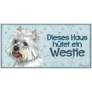 """Tierschild aus Holz, Motiv """"Westie"""""""