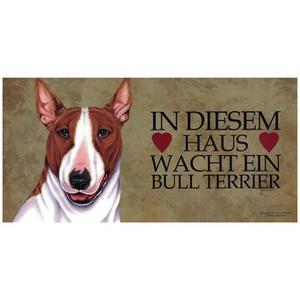 """Tierschild aus Holz, Motiv """"Bull Terrier"""""""