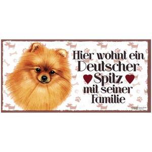 """Tierschild aus Holz, Motiv """"Deutscher Spitz"""""""