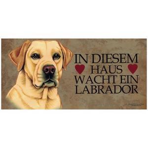 """Tierschild aus Holz, Motiv """"Labrador (In diesem...)"""""""