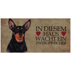 """Tierschild aus Holz, Motiv """"Zwergpinscher"""""""