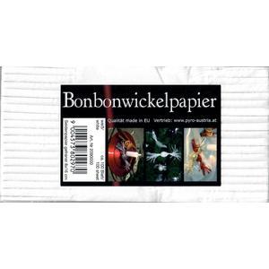 Bonbonwickelpapier 8x16, weiß, ca. 100 Blatt