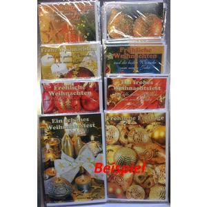 Billett weihnachtlich (VPE=1 Karte) mit Glimmer