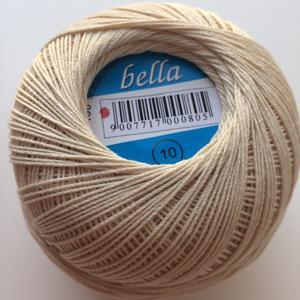 Häkelgarn BELLA 10 100%Bw. 50g Farbe 103 (beige)