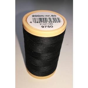 Nähfaden COATS Cotton merc. 50/200m Farbe 9750 schwarz