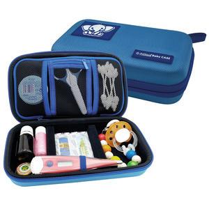 PILLBASE Baby Case Pflegeset leer | Reiseapotheke | Kosmetiktasche unterwegs | Familie | Kulturbeutel | Kulturtasche | tragbar & mobil | Aufbewahrung Reisen | blau