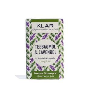 Klar's festes Shampoo Teebaumöl Lavendel 100g (gegen Schuppen)