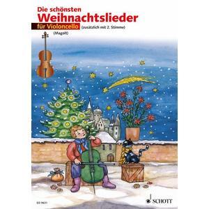 Die schönsten Weihnachtslieder für 1 oder 2 Violoncelli