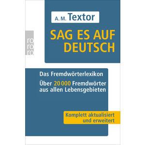 Sag es auf Deutsch