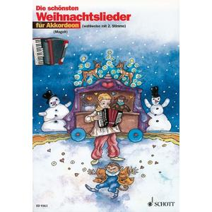 Die schönsten Weihnachtslieder für 1 oder 2 Akkordeons