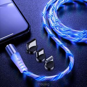 LED Ladekabel Blau