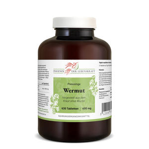 Wermut Tabletten à 600mg, 630 Tabletten (Artemisia absinthium, bitterer Beifuß)