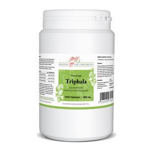 Triphala Tabletten à 800mg (Haritaki, Amalaki und Bibhitaki), 1000 Tabletten