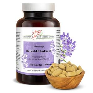 Baikal-Helmkraut Tabletten à 800mg (Scutellaria baicalensis), 265 Tabletten