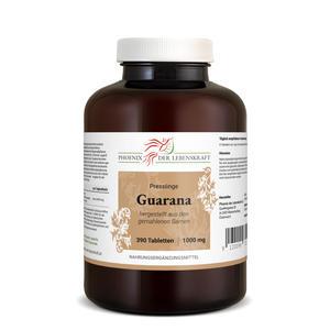 Guarana Tabletten à 1000mg (Paullinia cupana), 390 Tabletten