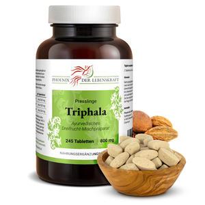 Triphala Tabletten à 800mg (Haritaki, Amalaki und Bibhitaki), 245 Tabletten
